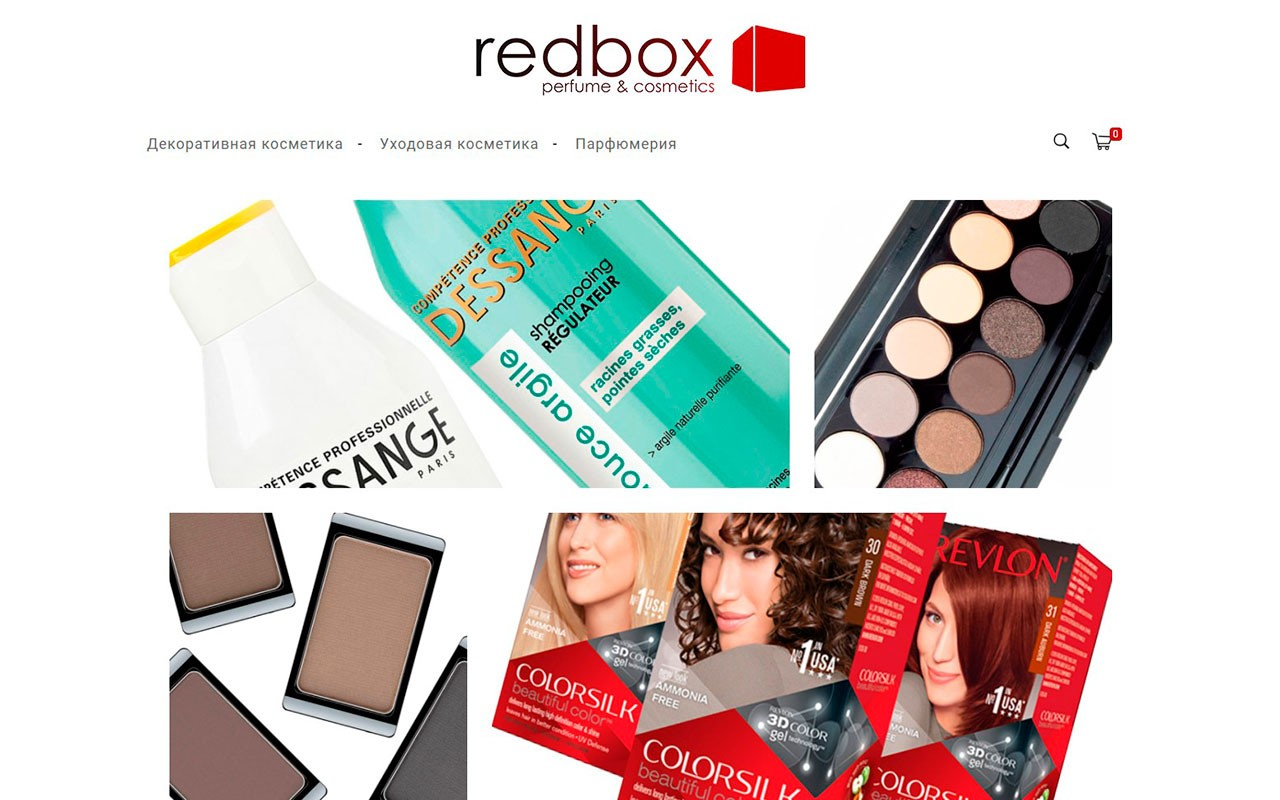 Online store development for cosmetics and perfumes - Redbox